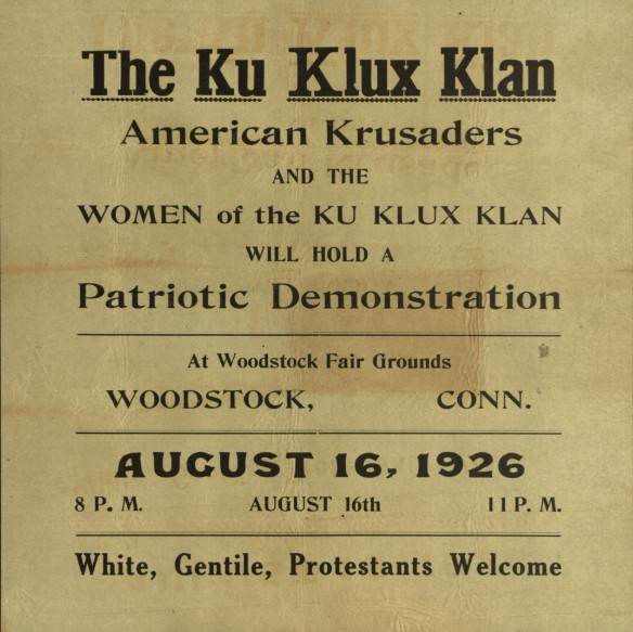 KKK rally broadside. CHS 2014-054