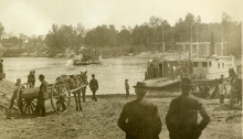 Ferry crossing at Hartford, 1895