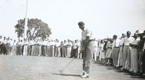 "Harold ""Holly"" Mandly, Jr., one of the most successful amateur golfers in the history of the Connecticut State Golf Association, 1938."