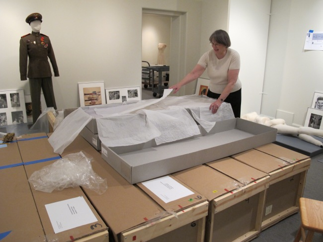 Jean Druesedow, Kent State University Museum, unboxing in the Katharine Hepburn exhibit at the Connecticut Histocial Society