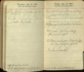 There was a daylight air raid practice on July 15, 1943, that included Madeline. Ms 101869.