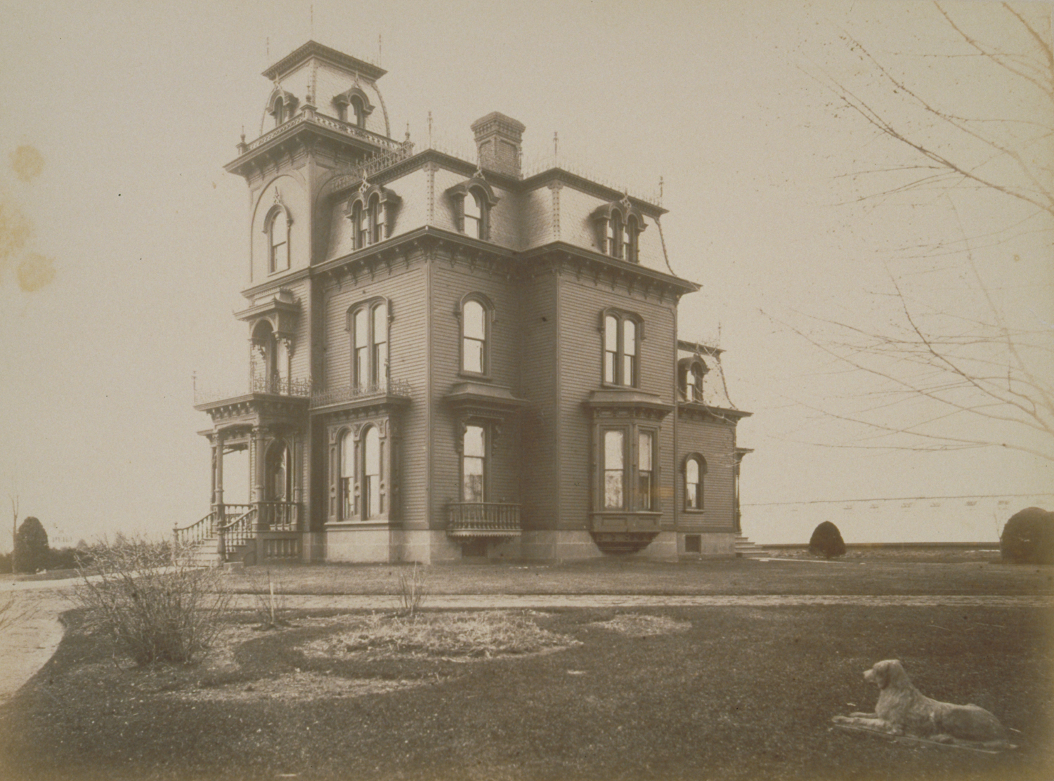 Edwin Hills House, Plainville, Connecticut. Photograph by the Northern  Survey Company, 1880s. The Connecticut Historical Society, 2000.191.224