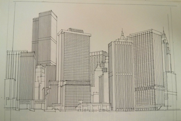 Richard Welling. Lower Manhattan Buildings. 2012.284.5812