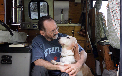 a man and his dog on the road—the ultimate do-it-yourself book tour!