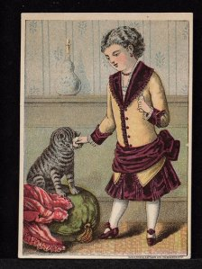 Advertising card for Dr. Thompson's Celebrated Eye Water. Eastern North Carolina digital archive.