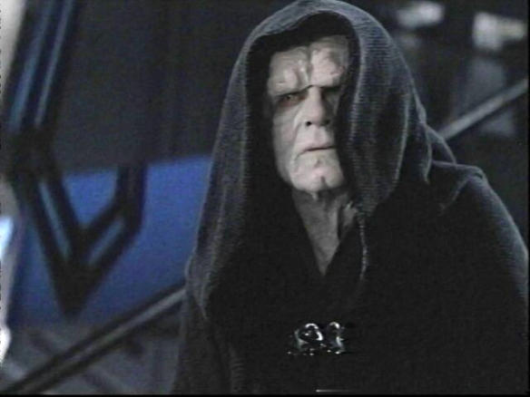 Emperor Palpatine on the Death Star in Return of the Jedi.
