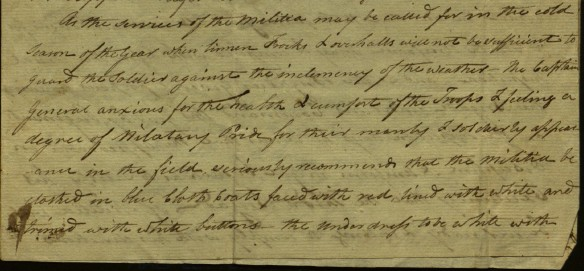 Description of clothing to be worn, 1798 Brigade orders. Ms 101879