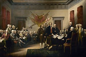Declaration of Independence by John Trumbull.